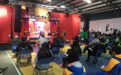 Marcelo Coulon Cuarteto presentó un concierto en vivo desde el Liceo de Guarilihue Alto